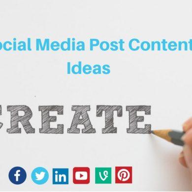 Social Media Post Content Ideas
