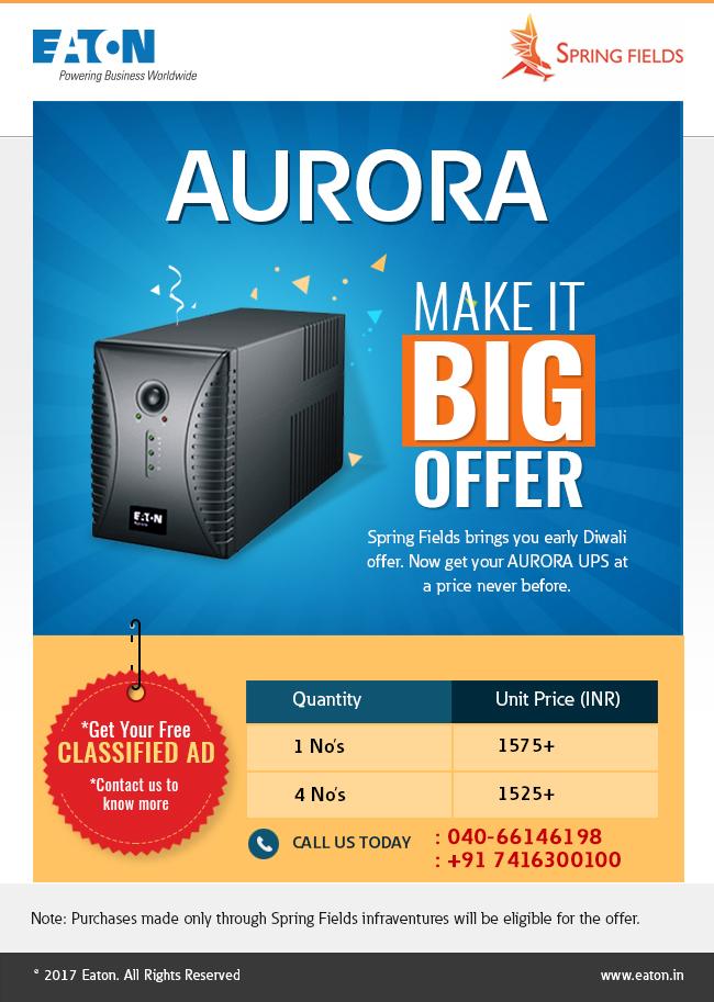 Aurora UPS Product Offer Emailer_Big Offer (2)